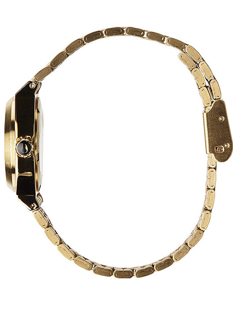 Nixon Small Time Teller All Gold Crystal
