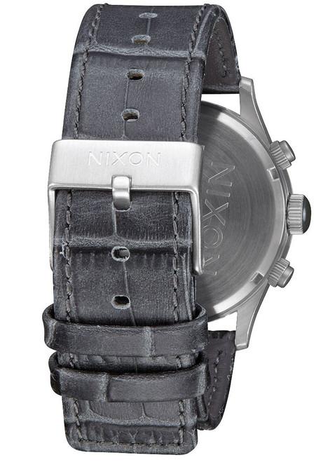Nixon Sentry Chrono Leather Gray Gator