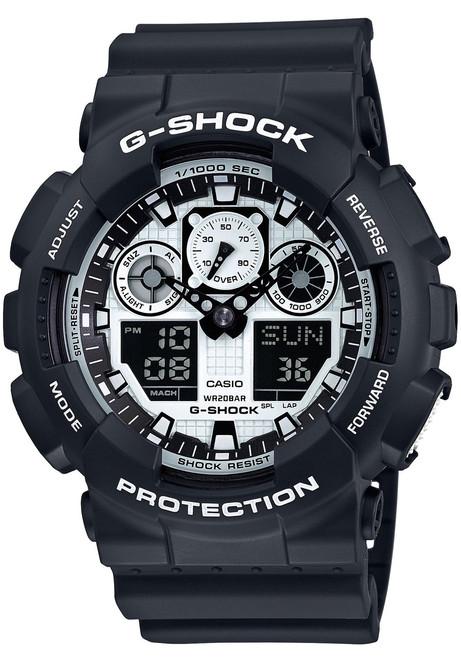 G-Shock GA-100BW-1A Black/White Series