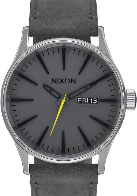 Nixon Sentry Leather Charcoal (A105147)