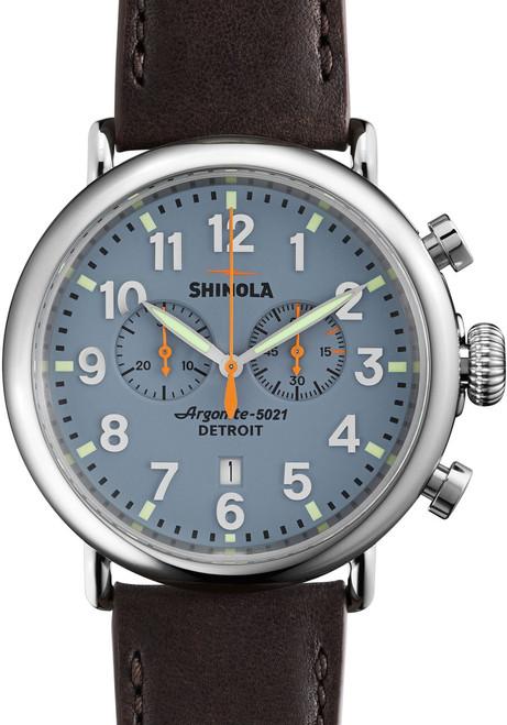 Shinola Runwell 47mm Slate Blue