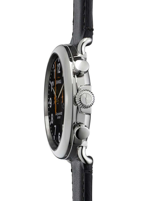 Shinola Runwell Chrono 47mm, Black Leather side (S0110000051)