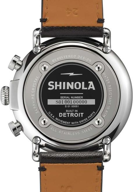 Shinola Runwell Chrono 47mm, Black Leather back (S0110000051)