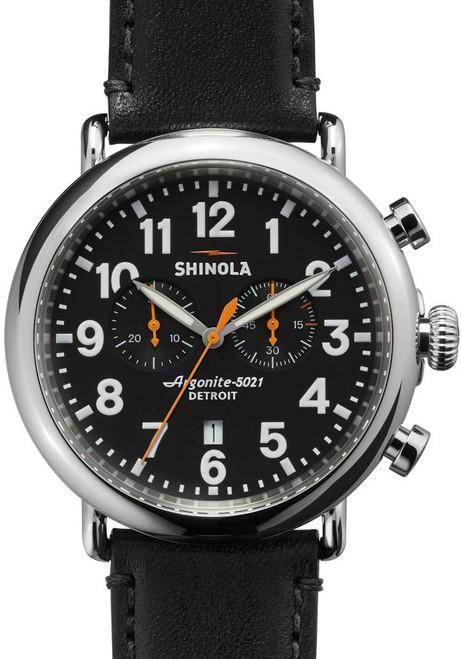Shinola Runwell Chrono 47mm, Black Leather (S0110000051)