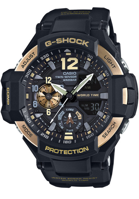 G-Shock Gravitymaster Aviation Black Gold (GA-1100-9G)