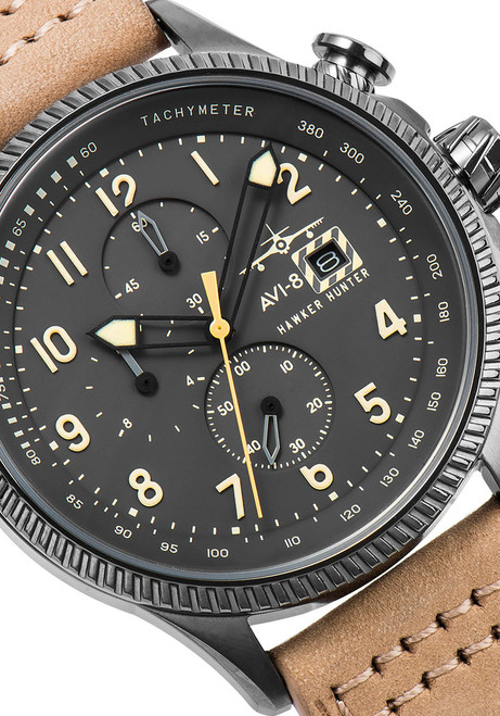 AVI-8 Hawker Hunter Chrono Black Yellow (AV-4036-06)