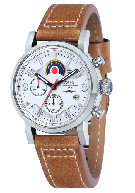 AVI-8 Hawker Hurricane Chrono Steel Tan