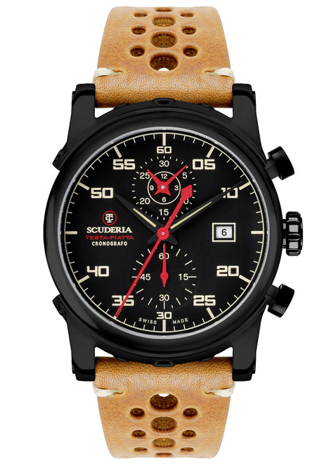 CT Scuderia CS30103 Testa Piatta Chronograph Black Tan
