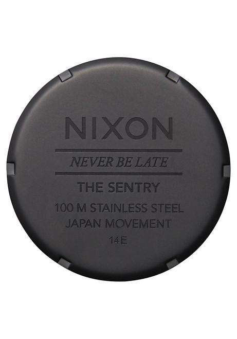 Nixon Sentry Leather All Black Goldenrod (A1052448)