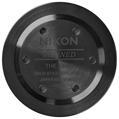 Nixon 38-20 Leather Black Silver Brown