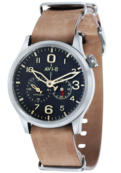 AVI-8 Flyboy Multi-Function Automatic Tan Silver (AV-4048-02)