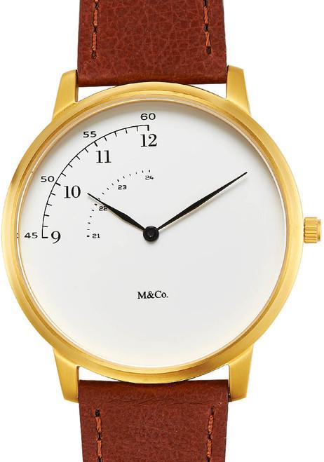 M&Co Pie 40mm Brass Brown (7408-40)