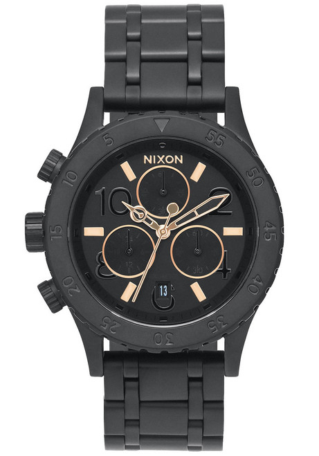 Nixon 38-20 Chrono All Black Rose Gold (A404957)