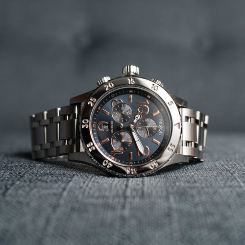 Nixon 38-20 Chrono Navy Rose Gold (A4042195)