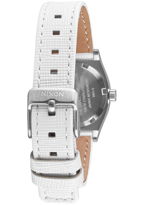 Nixon Small Time Teller Leather Navy White (A509321)
