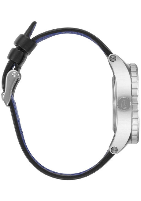 Nixon 38-20 Leather Silver Black Blue (A4672184) side