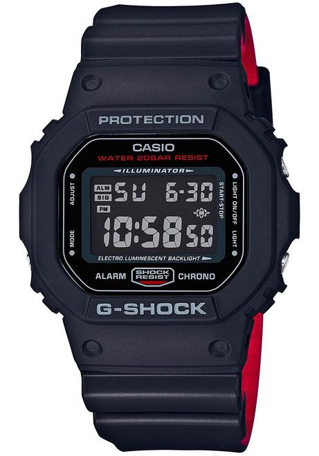 G-Shock DW-5600HR Black Red (DW-5600HR-1) FRONT