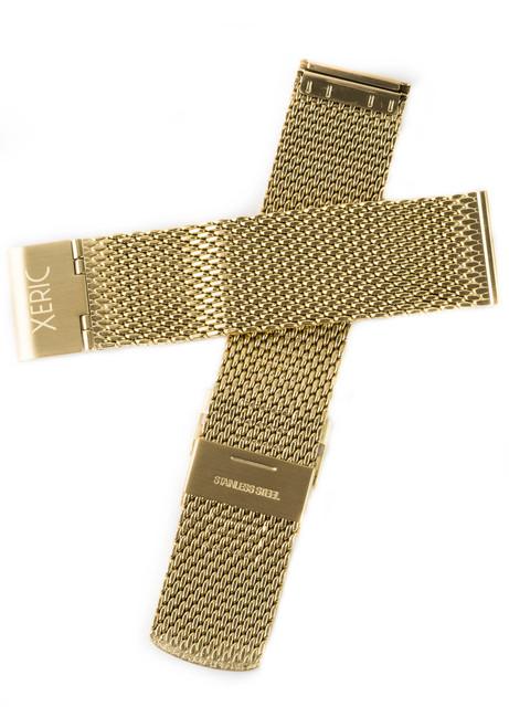 Xeric 24mm Gold PVD Mesh Strap (XRC-MESH-24-GDGD)