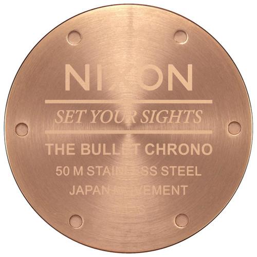 Nixon Bullet Chrono Crystal All Rose Gold Gunmetal (A9312046)