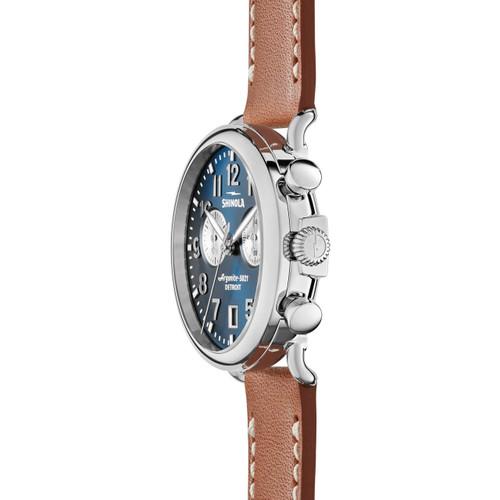 Shinola Runwell Chronograph Tan Blue (S0120044131) side