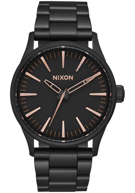 Nixon Sentry 38 SS All Black Rose Gold (A450957)