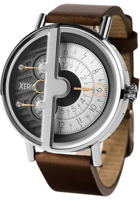 Xeric soloscope rq silver brown for Watches xeric