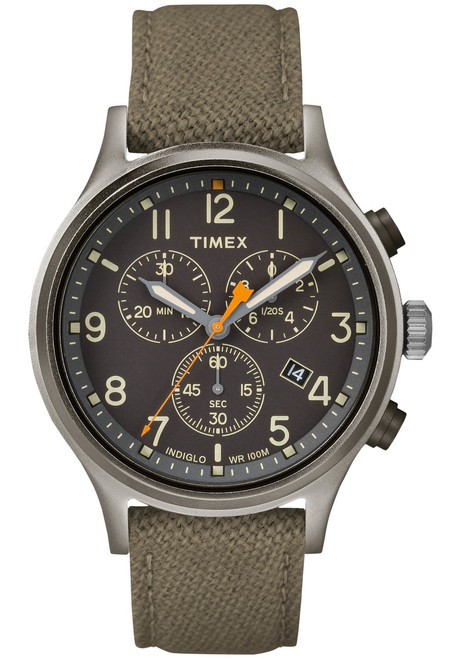 Timex Allied Chrono Gray Olive Green Watches Com