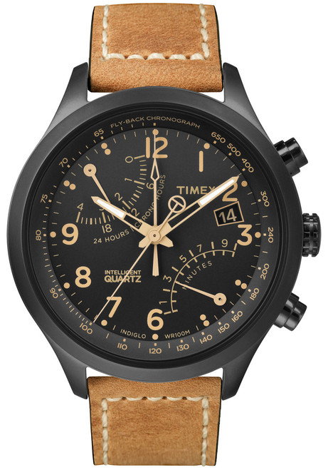 Timex Intelligent Quartz Flyback Chrono Black Tan (T2N700ZA)