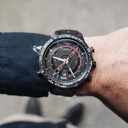 Timex Intelligent Quartz Tide Temp Compass Black