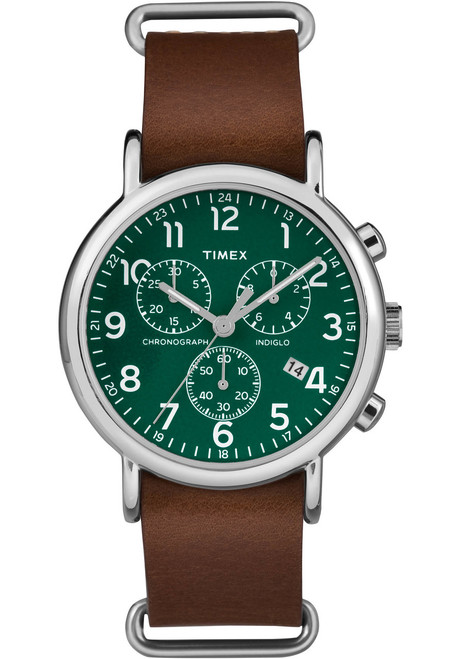 Timex Weekender Chrono Green Brown Watches Com
