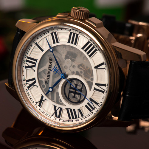 Thomas Earnshaw Beagle Rose Gold Black White (ES-0028-02)