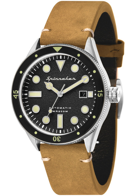 Spinnaker Cahill Automatic Silver Black (SP-5033-04)