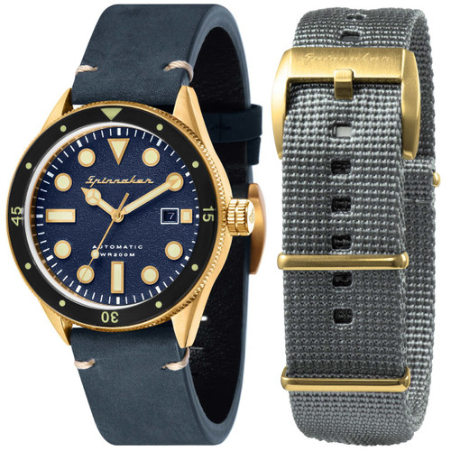 Spinnaker Cahill Automatic Brass Blue (SP-5033-06)
