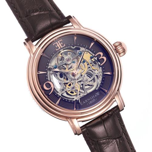 Thomas Earnshaw Longcase Automatic Rose Gold Brown (ES-8011-07)