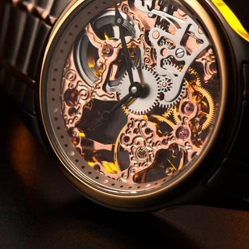 Thomas Earnshaw Bauer Hand Wind Skeleton Silver Rose Gold (ES-8049-33)