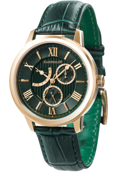 Thomas Earnshaw Cornwall Sweep Second Retrograde Gold Green (ES-8060-02)