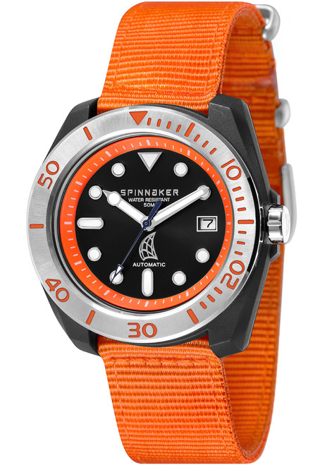 Spinnaker Marina Automatic Orange Silver (SP-5054-03)