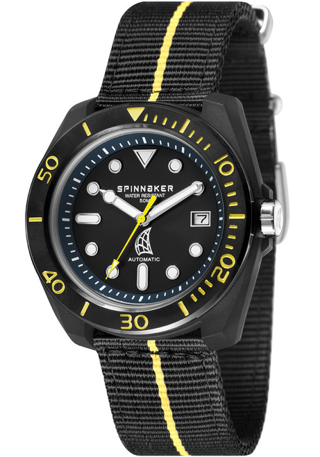 Spinnaker Marina Automatic Black Yellow (SP-5054-06)
