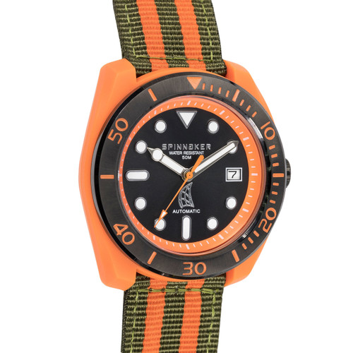 Spinnaker Marina Automatic Orange Black (SP-5054-05)
