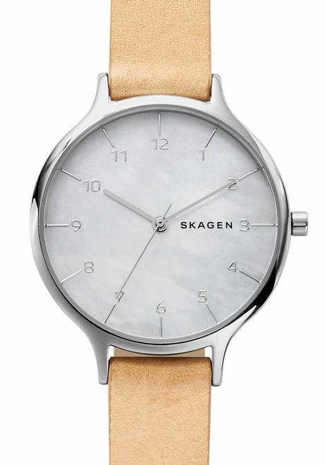 Skagen Anita Mother of Pearl Leather (SKW2634)