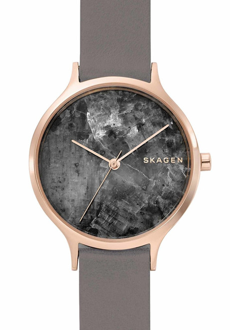 Skagen Anita Rose Gold Gray Marble Leather (SKW2672)