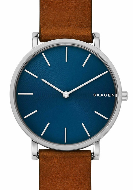 Skagen SKW6446 Hagen Slim Blue Brown Leather