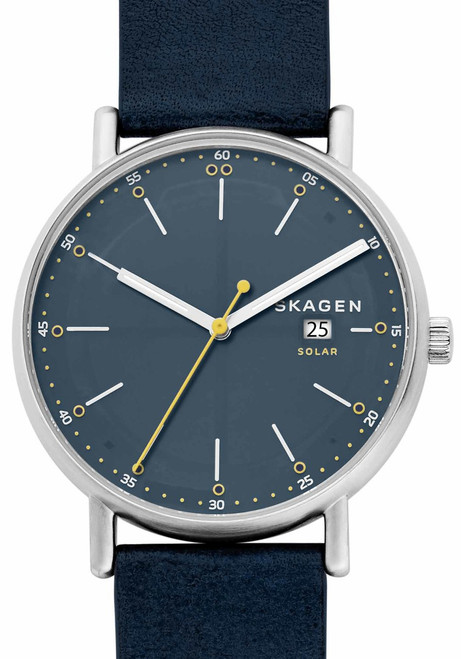 Skagen SKW6451 Signatur Solar Silver Blue Leather