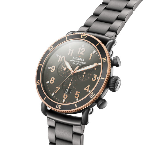 Shinola Runwell Sport Chrono 48mm Gunmetal (S0120089903)