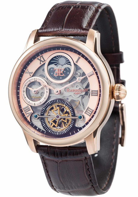 Thomas Earnshaw Longitude Shadow Automatic Rose Gold Brown (ES-8063-02)