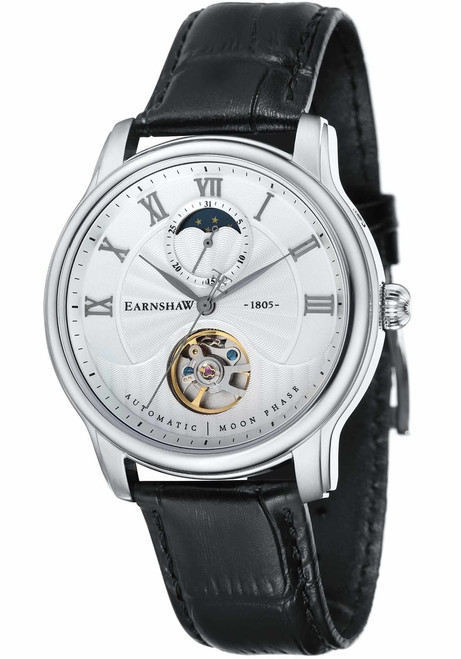 Thomas Earnshaw Longitude Moonphase Automatic Silver Black (ES-8066-01)