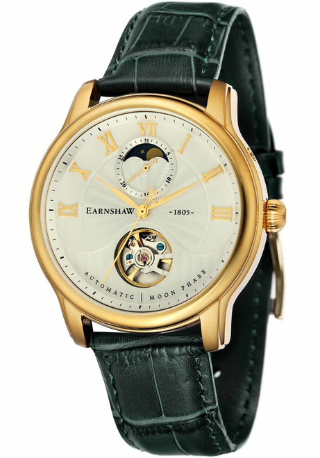 Thomas Earnshaw Longitude Moonphase Automatic Gold Green (ES-8066-03)