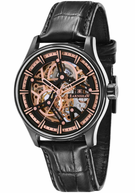 Thomas Earnshaw Beagle Automatic Woolwich Edition Rose Gold Black (ES-8076-04)