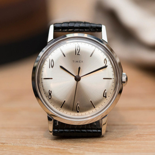 timex stainless steel back how to set on hand
