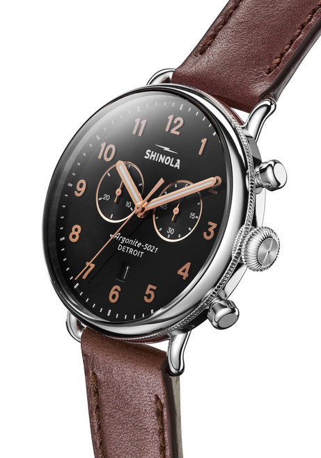 Shinola Canfield Chronograph 43mm Polished Cognac (S0120095229)